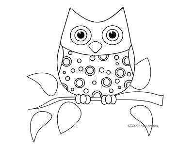 400x309 Cute Owl Coloring Pages To Print