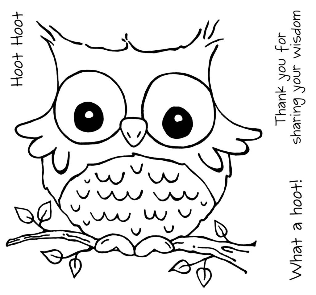 1024x955 Free Cute Owl Coloring Pages To Print Mom's Embroidery