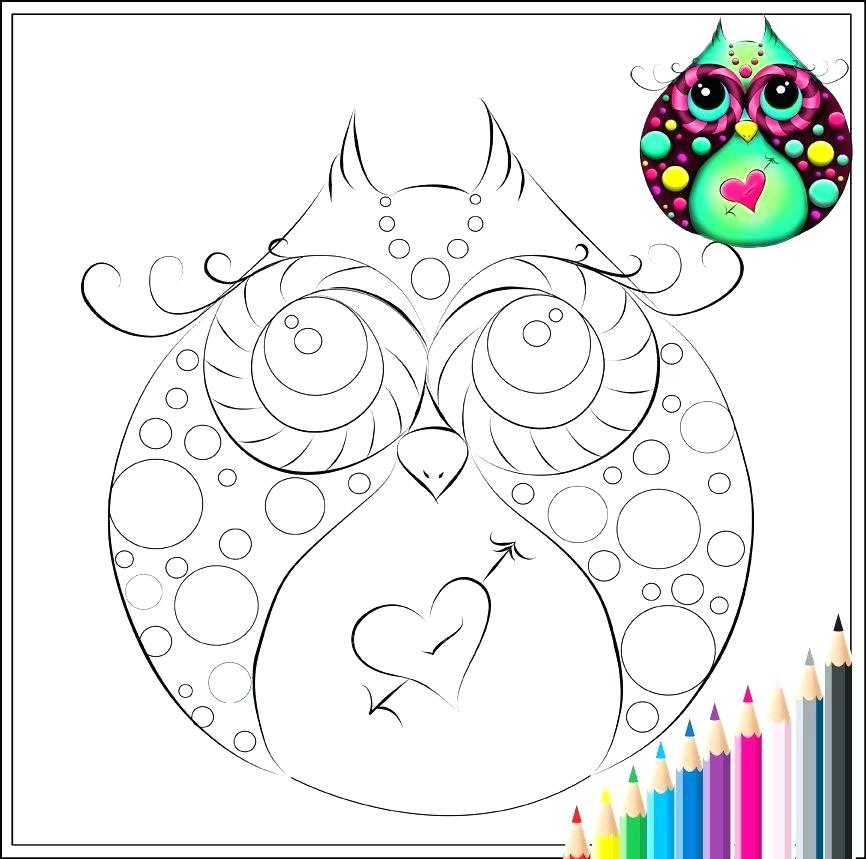 866x859 Cute Owl Coloring Page Girl Owls Coloring Pages Fresh Free