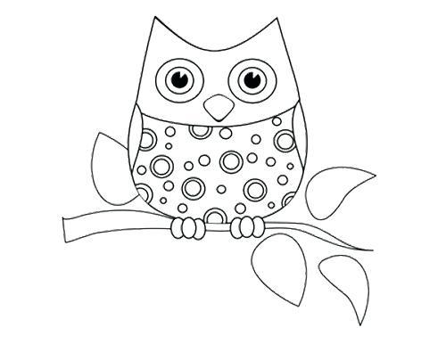 500x386 Cute Owl Coloring Pages Cute Owl Coloring Pages Cute Cartoon Owl