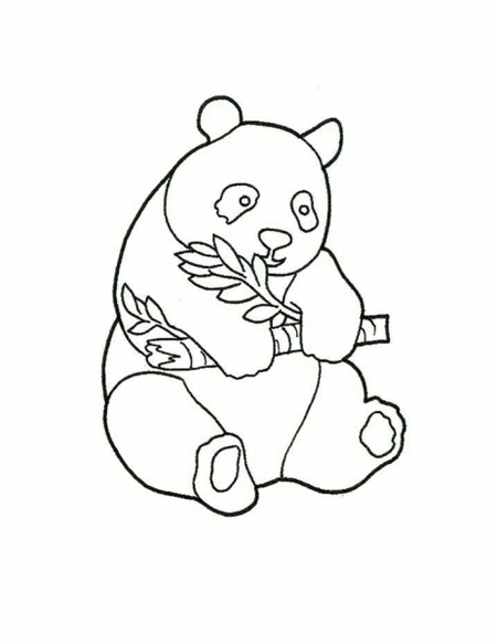 Cute Panda Bear Coloring Pages