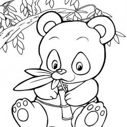 Cute Panda Bear Coloring Pages At Getdrawings Com Free For