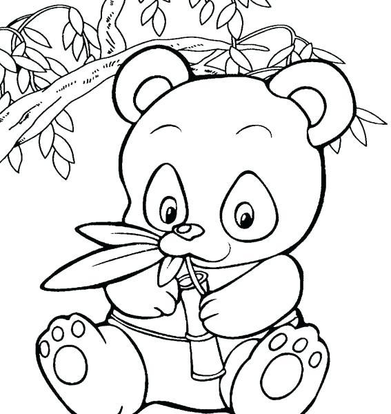 Cute Panda Bear Coloring Pages at GetDrawings | Free download