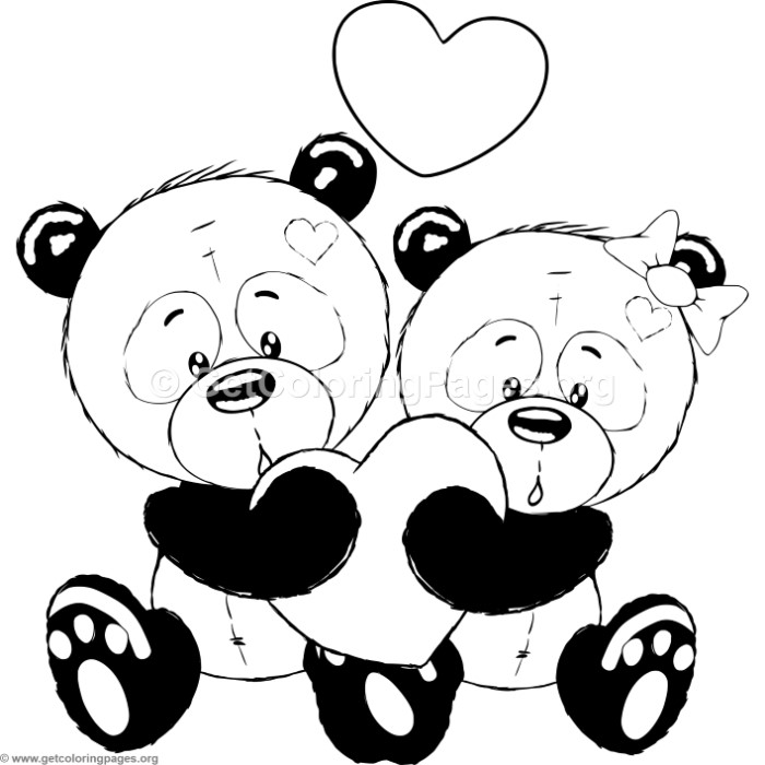 Cute Panda Coloring Pages at GetDrawings.com | Free for ...