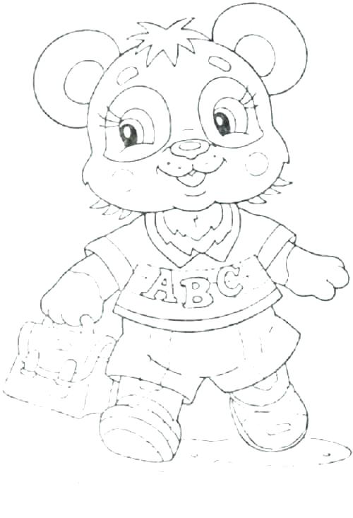 500x733 Cute Panda Coloring Pages Baby Panda Coloring Pages Cute Panda