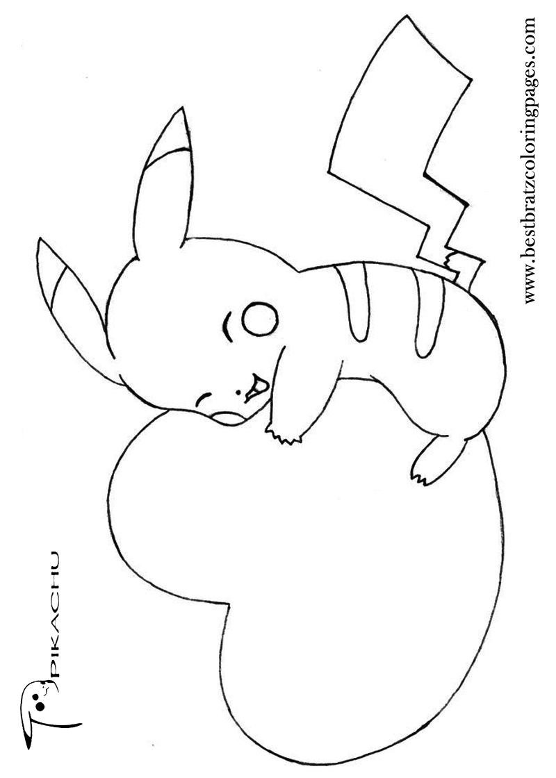 Cute Pikachu Coloring Pages at GetDrawings   Free download
