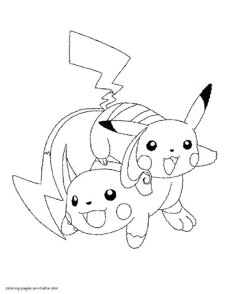 Cute Pikachu Coloring Pages at GetDrawings | Free download