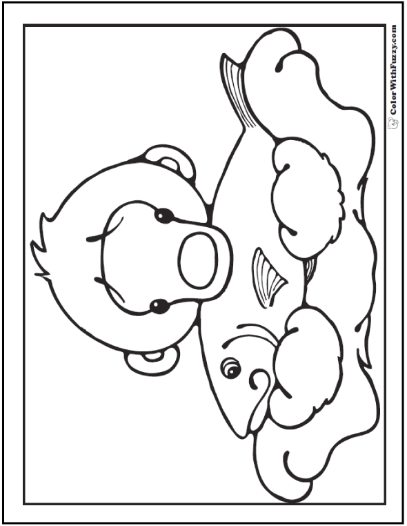 Cute Polar Bear Coloring Pages
