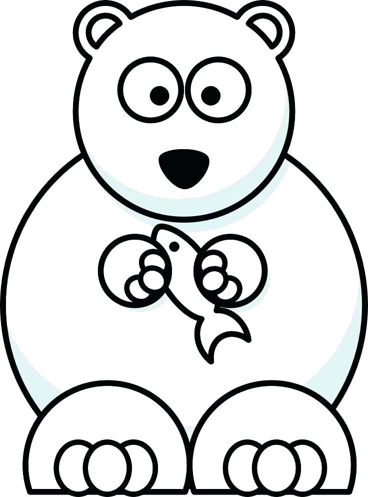 736x993 Polar Bear Coloring Page Cute Polar Bear Coloring Pages Cartoon