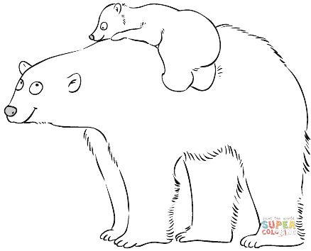 438x354 Polar Bear Coloring Pages