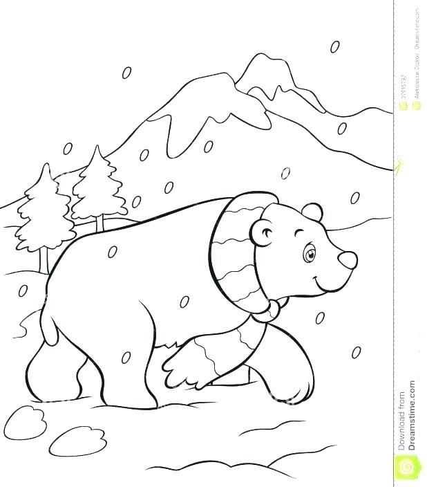 618x704 Polar Bears Coloring Page Polar Bear Coloring Pages Cute Polar