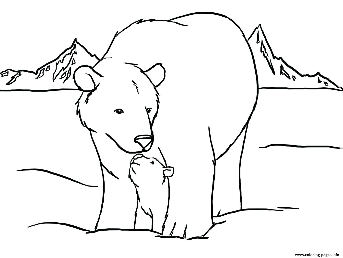 1401x1053 Coloring Page Polar Bear Cute Color Pages To Printable Pictures