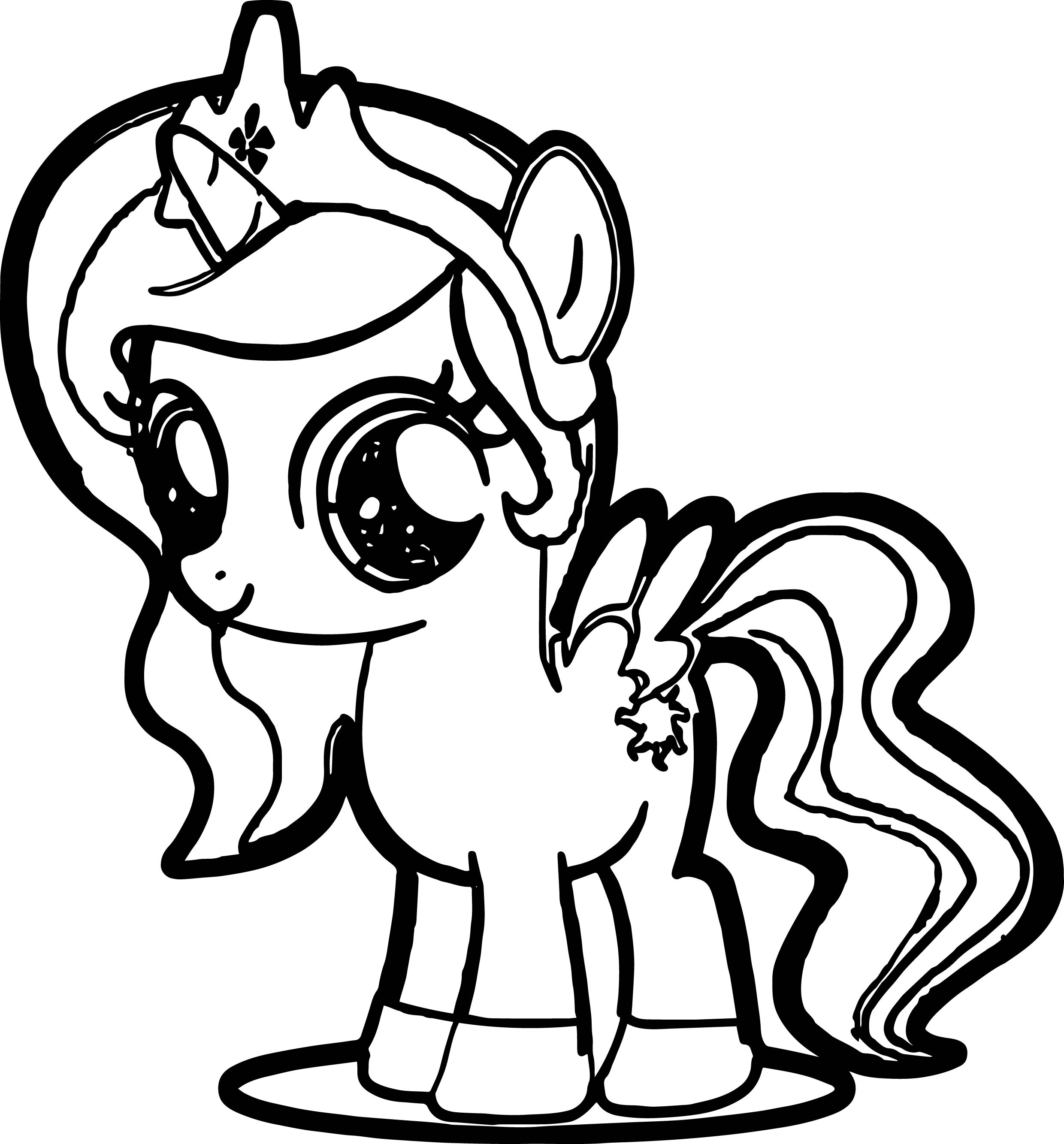 2480x2667 Little Pony Coloring Pages Cute Pony Coloring Page Wecoloringpage