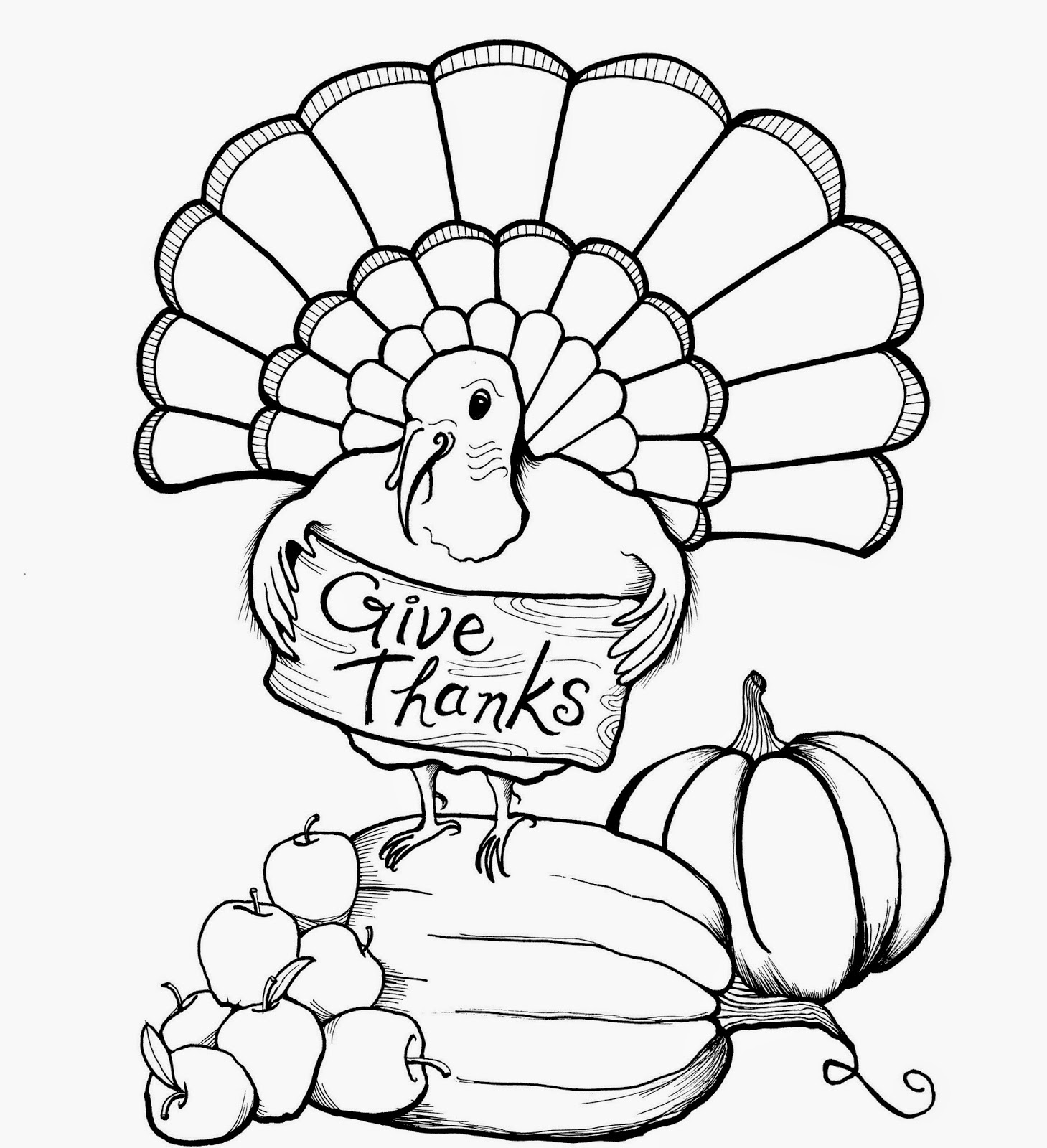 Cute Printable Thanksgiving Coloring Pages at GetDrawings ...