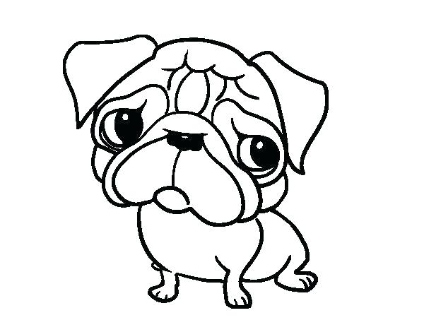 The Best Free Pug Coloring Page Images Download From 382