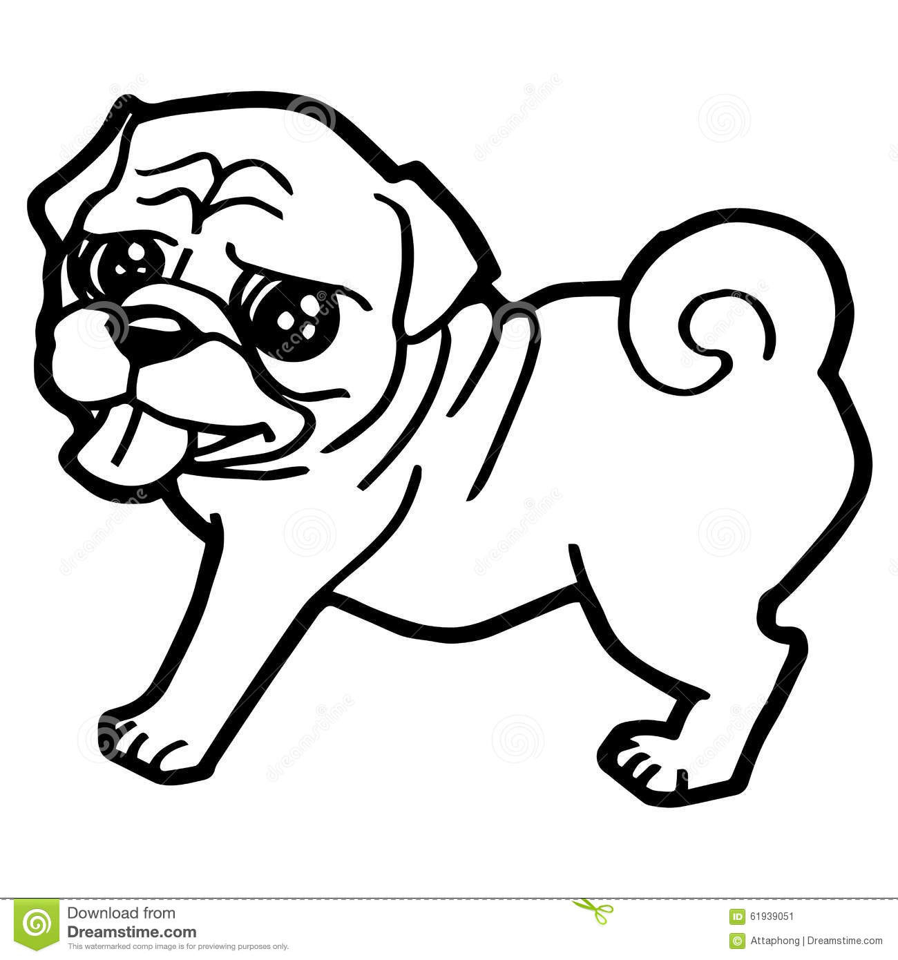 Cute Pug Coloring Pages at GetDrawings.com | Free for ...