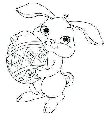 380x400 Bunny Easter Coloring Pages