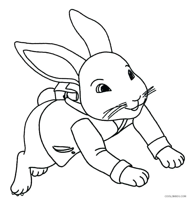 780x830 Coloring Pages Of Rabbits