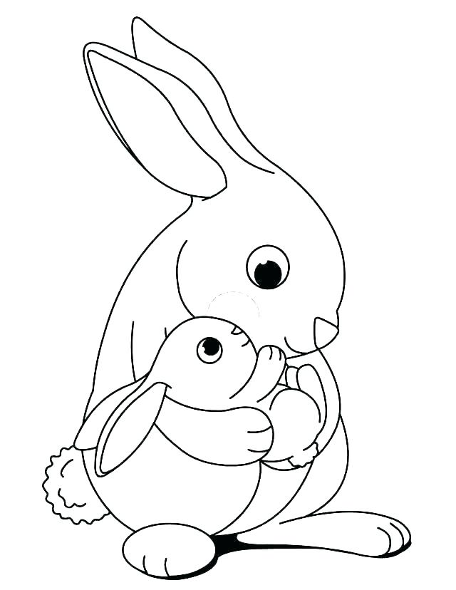 640x828 Cute Bunny Coloring Pages