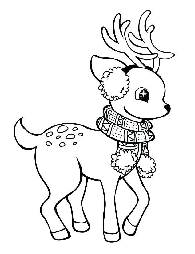 Cute Reindeer Coloring Pages at GetDrawings | Free download