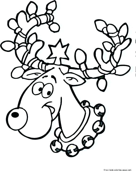 578x725 Free Reindeer Coloring Pages The Red Nosed Reindeer Coloring Pages