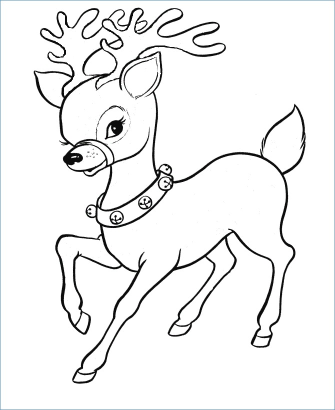 670x820 Rudolph The Reindeer And Friend Coloring Page
