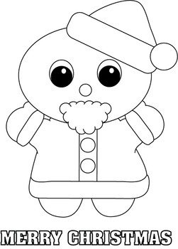 251x350 Santa Color Page, Christmas, Coloring Pages