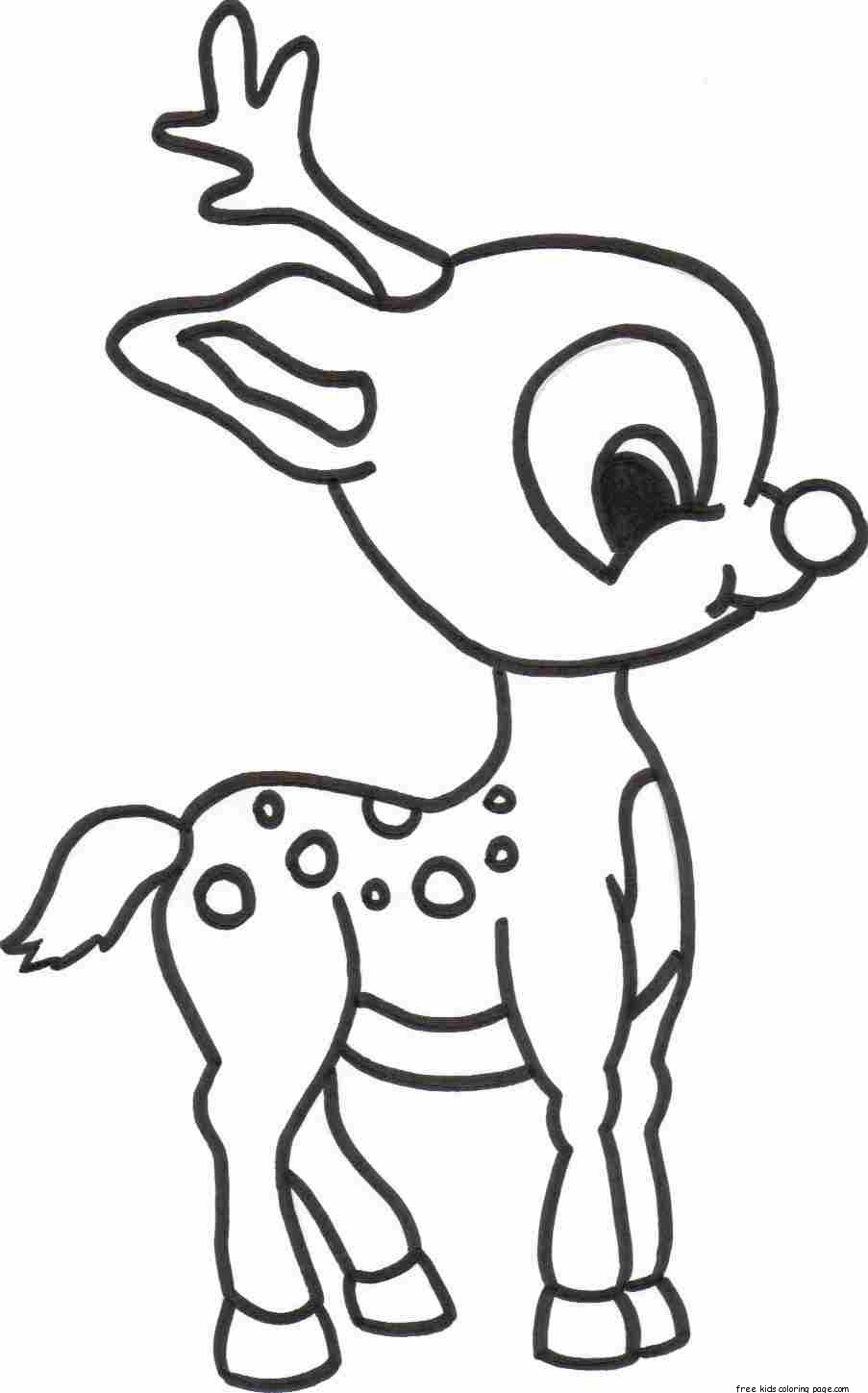 903x1449 Merry Christmas Baby Romance Reindeer Coloring Pagesfree Printable