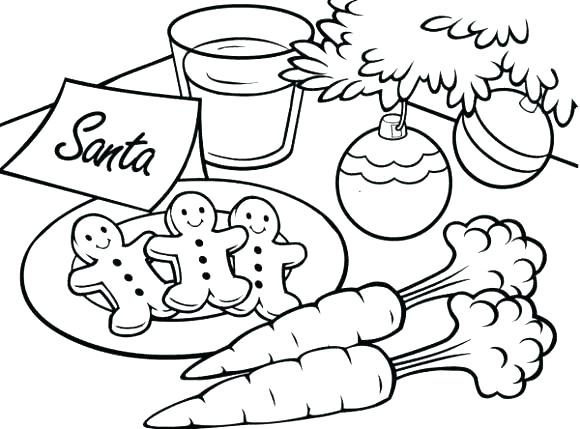 580x429 Santa Coloring Page