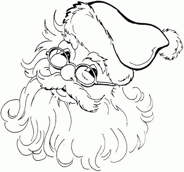 700x655 Best Santa Templates Shapes, Crafts Colouring Pages Free