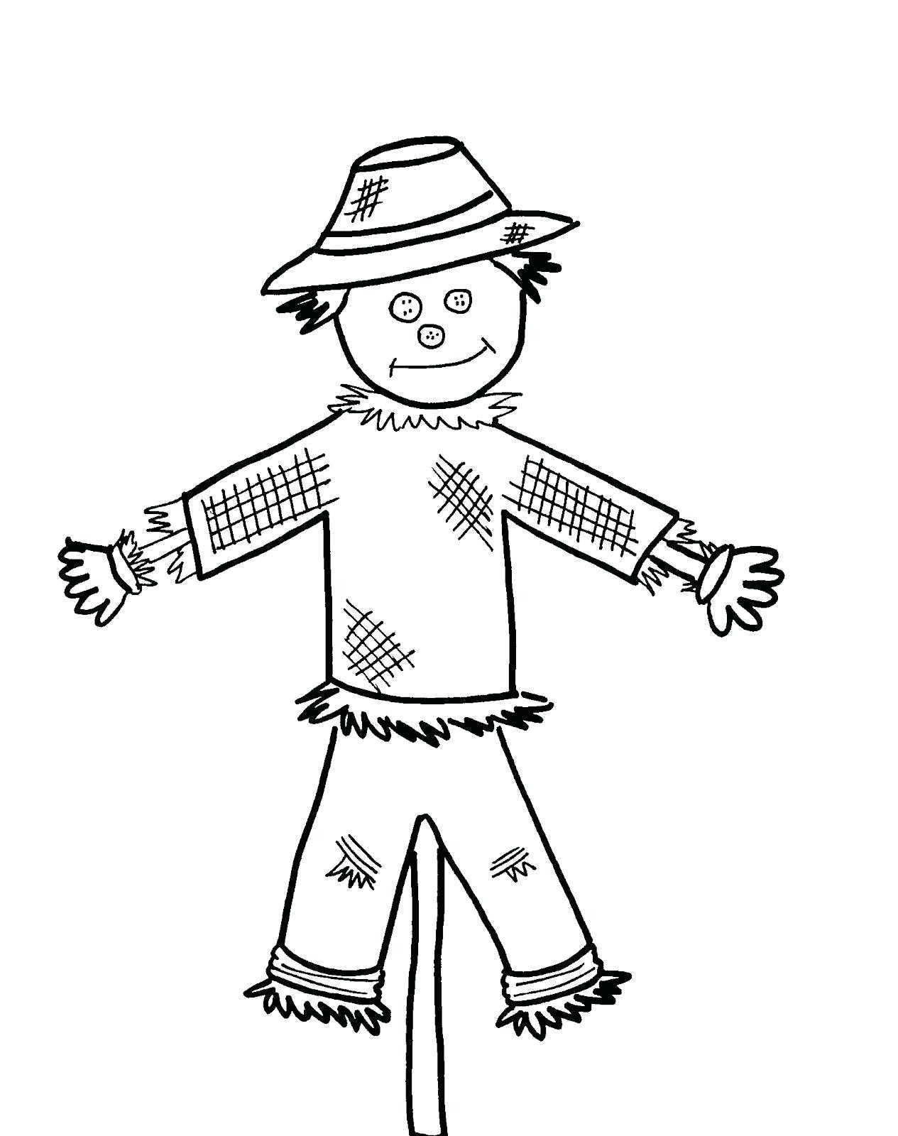 1265x1600 Cute Scarecrow Coloring Pages Acpra