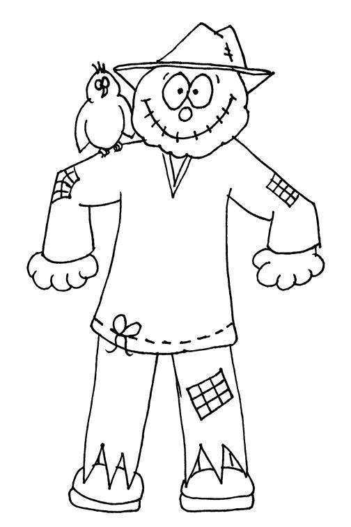 504x757 Cute Scarecrow Colouring Pages Scarecrows Lapsi Coloring