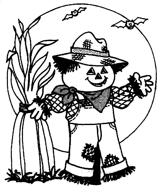 660x772 Halloween Scarecrow Coloring Pages