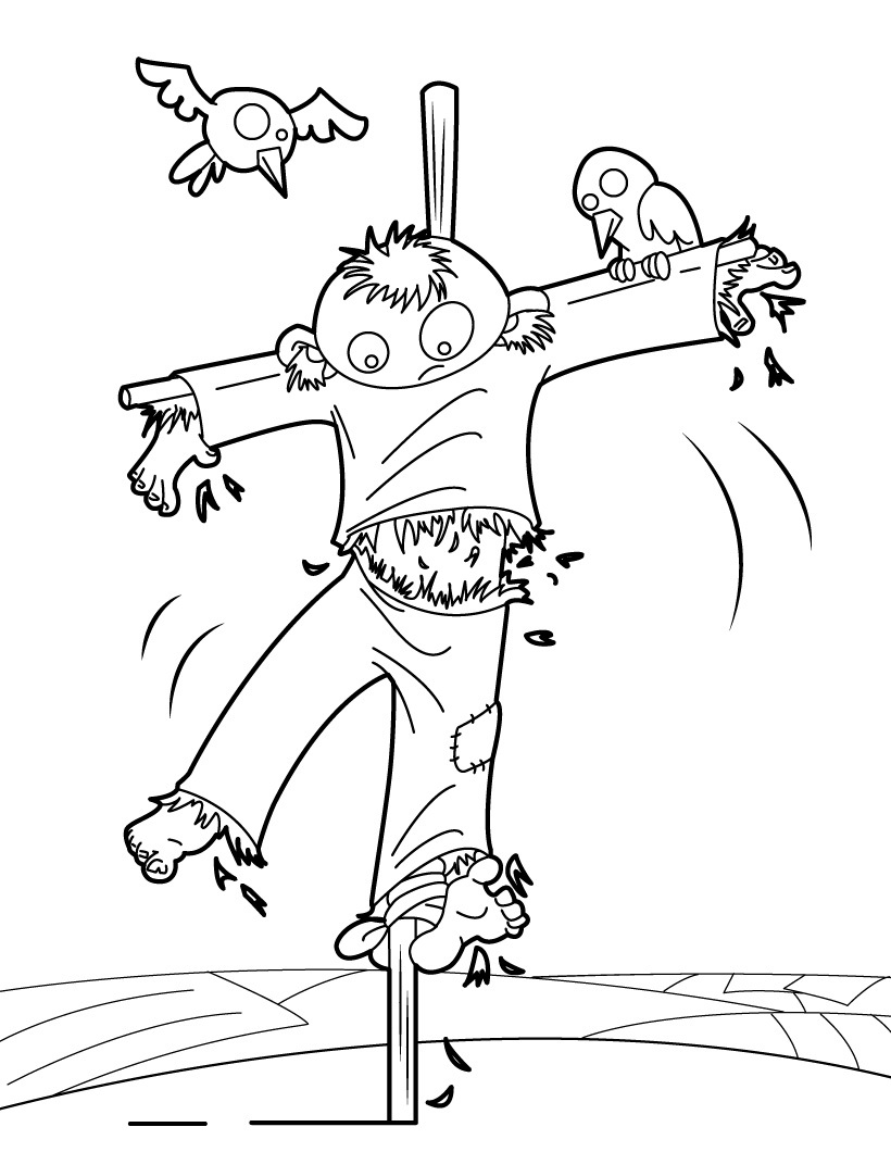 820x1060 Printable Scarecrow Coloring Pages Coloring Me