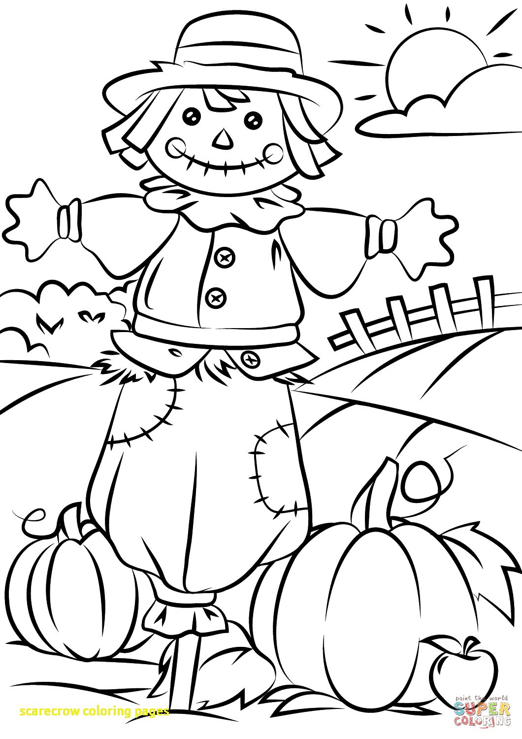 1060x1500 Thanksgiving Scarecrow Coloring Pages Girl Scouts