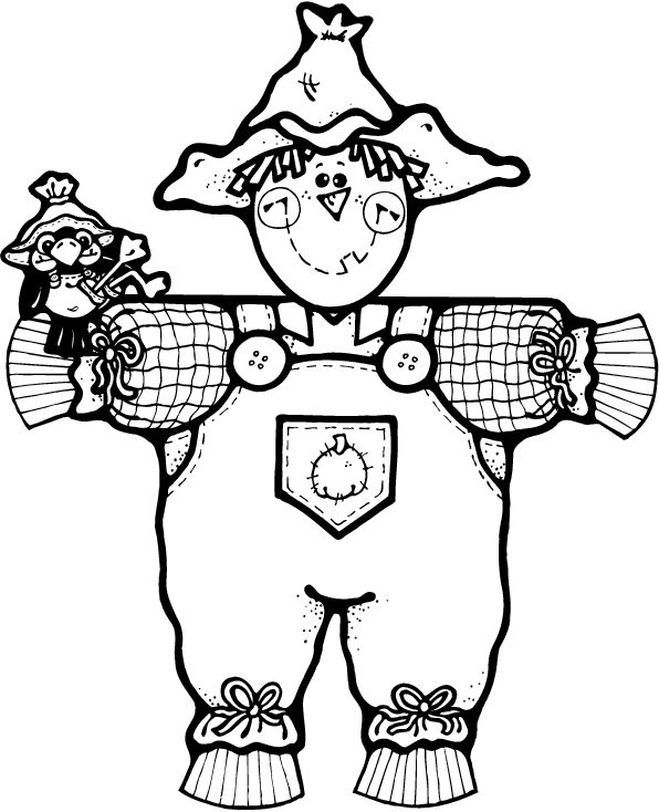 596x734 Halloween Scarecrow Coloring Pages Best Scarecrow Coloring