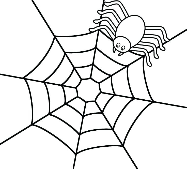 736x665 Spider Web Coloring Page Spider Coloring Page Cute Spider Coloring