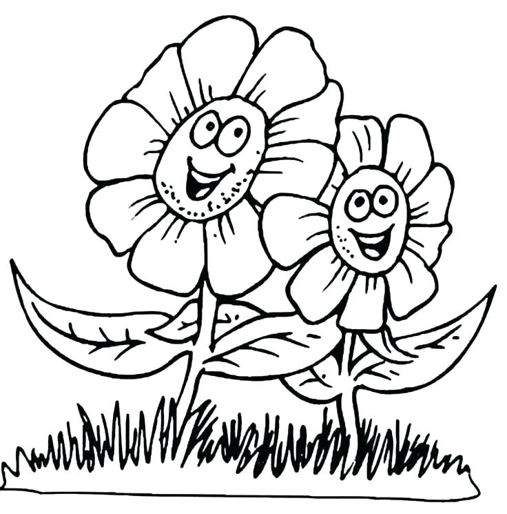 736x745 Cute Flower Coloring Pages Spring Coloring Sheets Cute Flower