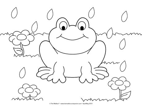460x354 I Love Frogs! Here's A Cute Coloring Page Perfect For Springtime