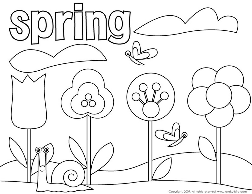 1048x810 Spring Coloring Pages