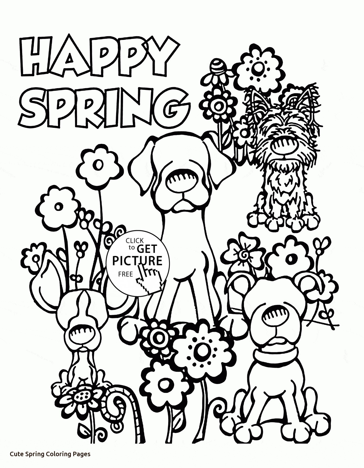 1480x1900 Spring Coloring Pages For Kids Beautiful Cute Dogs And Spring