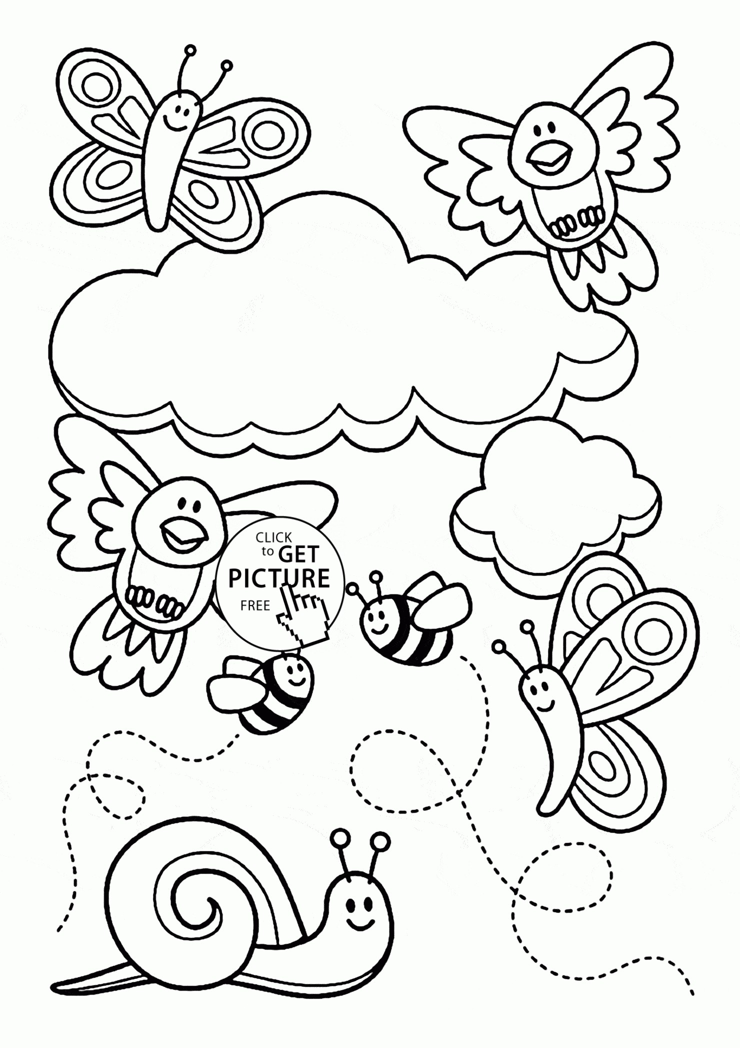1480x2096 Spring Coloring Pages Printable Resume