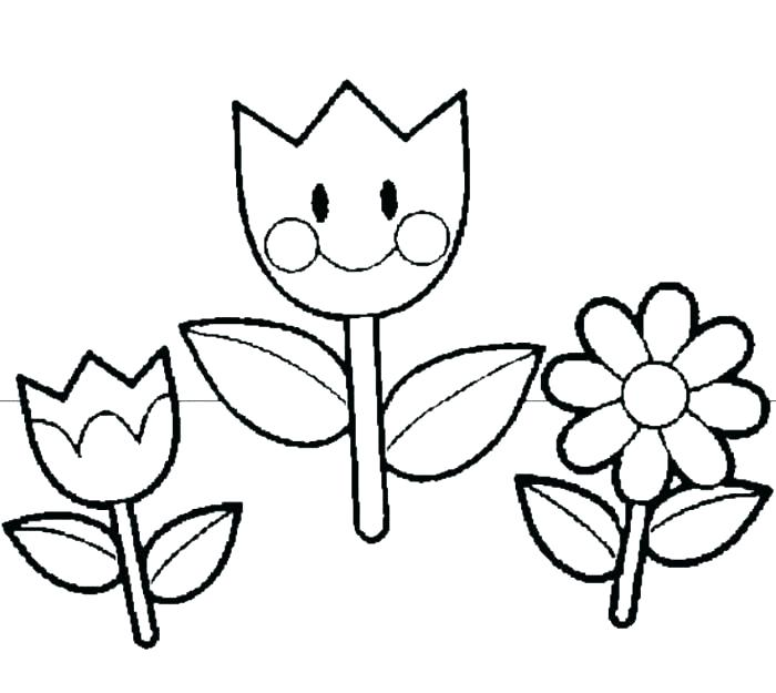 700x625 Spring Flowers Coloring Page Kids Spring Coloring Pages Cute
