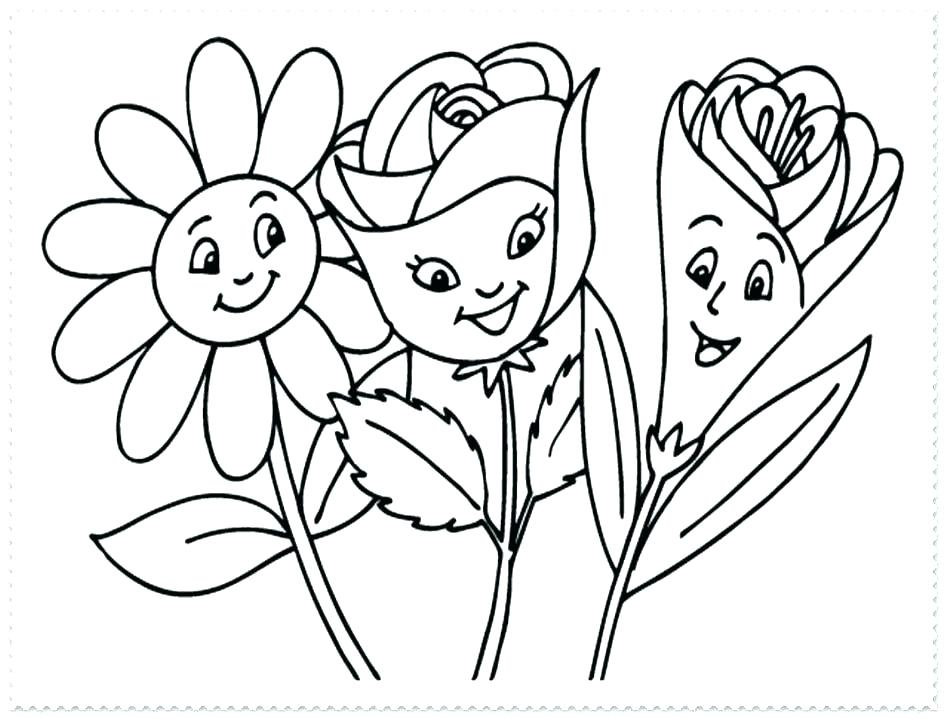 945x718 Cute Spring Coloring Pages