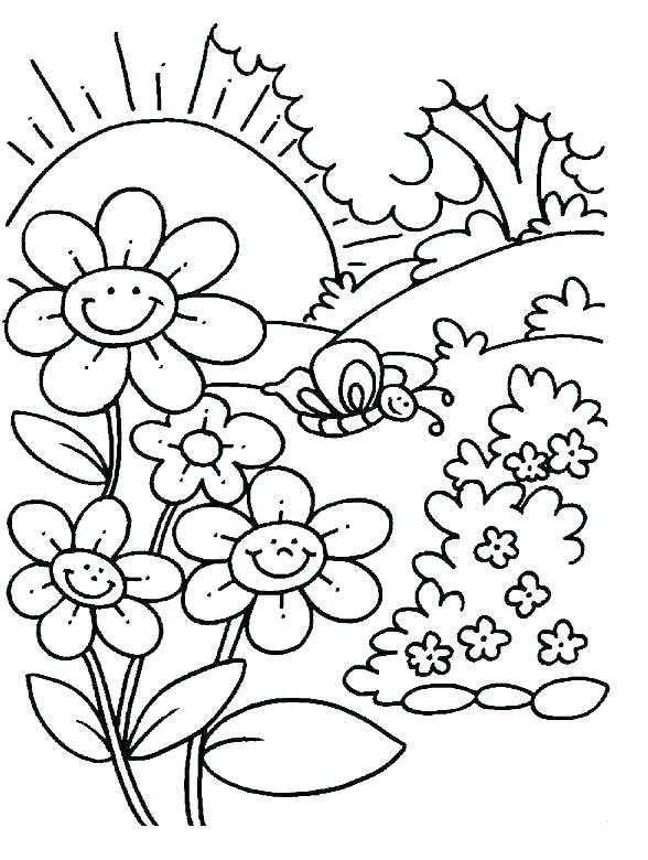 588x780 Spring Coloring Pages To Print