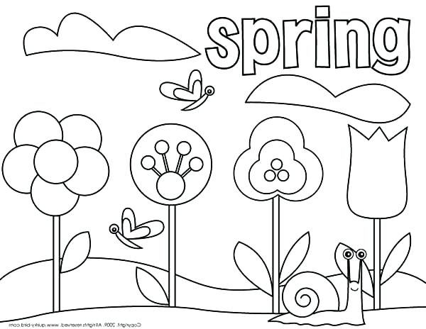 600x464 Coloring Pages Spring Extraordinary Springtime Coloring Pages
