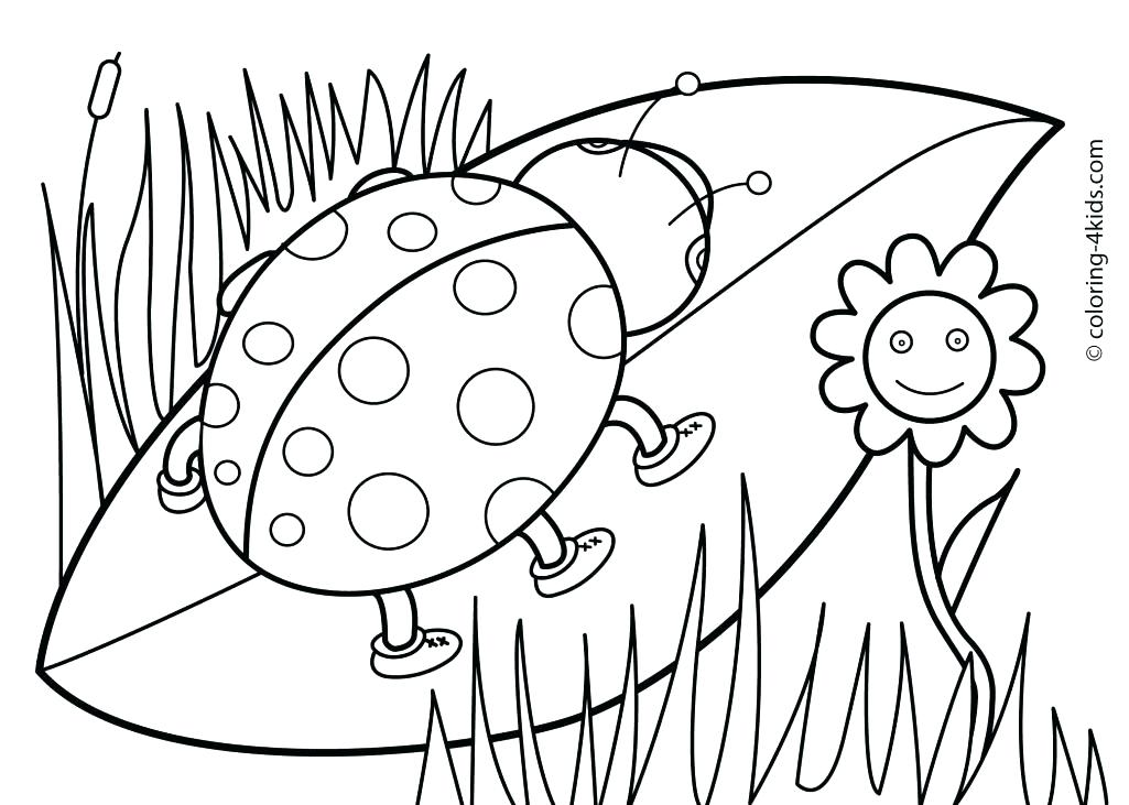 1025x731 Cute Flower Coloring Pages Cute Spring Coloring Pages Spring