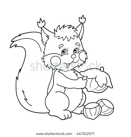 450x470 Squirrel Coloring Page Red Squirrel Coloring Page Scaredy Squirrel