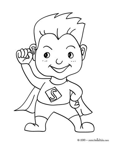 Cute Superhero Coloring Pages