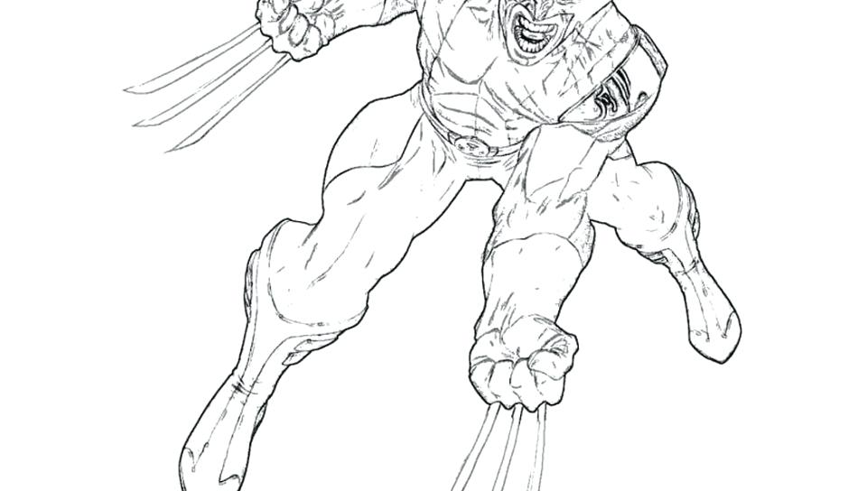 960x544 Wolverine Color Pages Cute Wolverine Coloring Pages Image